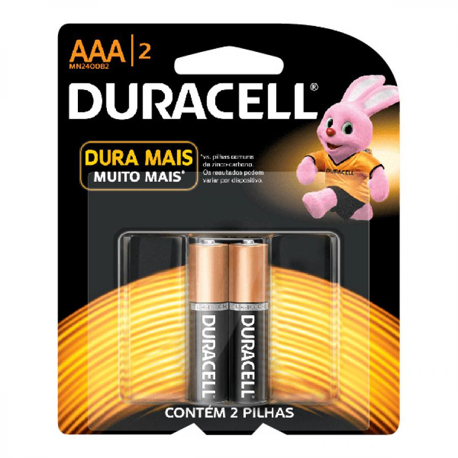 PILHA DURACELL AAA C 2 PALITO
