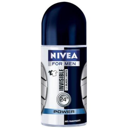 DES NIVEA MEN ROLL ON 50ML INVIS BLACK   WHITE POWER