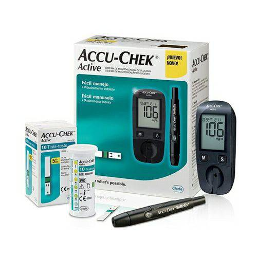 KIT MONITOR DE GLICEMIA ACCU CHEK ACTIVE