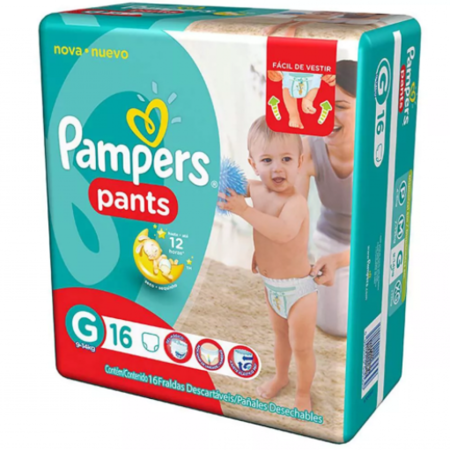 FD PAMPERS PANTS  XXG 12 UNID