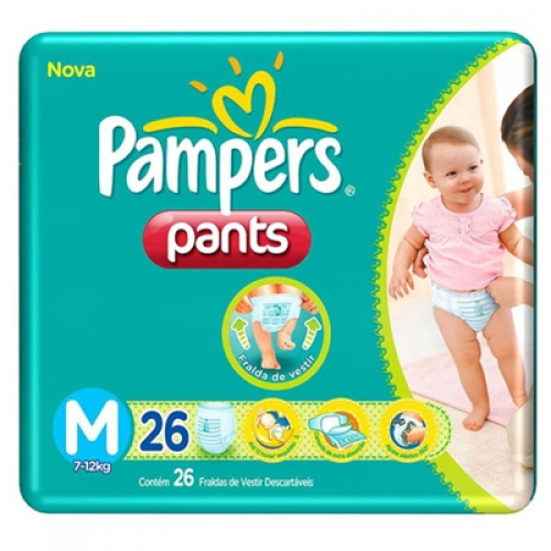 FD PAMPERS PANTS  M 20 UNID