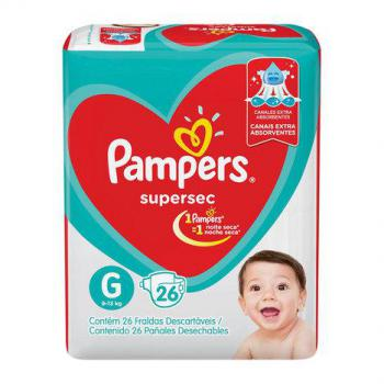 FD PAMPERS SUPERSEC PACOTAO ECON G 26