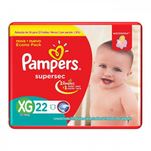 FD PAMPERS SUPERSEC PACOTAO ECON XG 22  NOVA