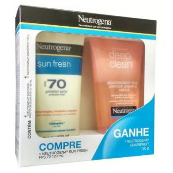 KIT NEUTROGENA SUN FRESH FPS70 120ML   DEEP CLEAN SAB 150ML