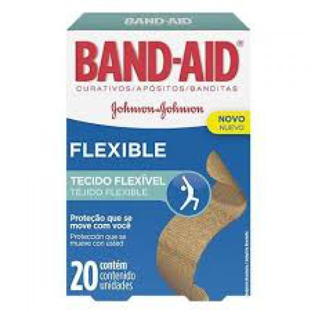 BAND AID FLEXIBLE 20 UNID