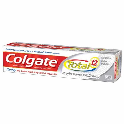 CD COLGATE TOTAL 12  70G PROFES  WHITENING
