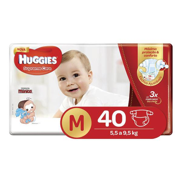 FD HUGGIES SUPREME CARE MEGA M 40 UNID