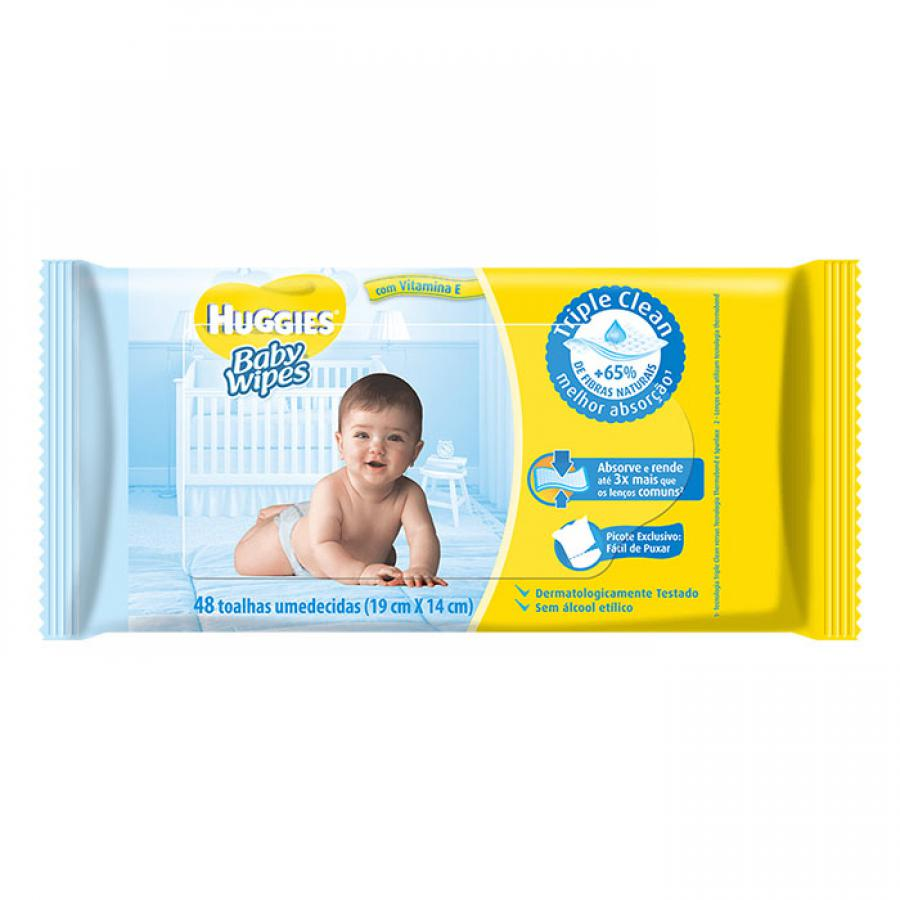 LENCO UMED HUGGIES BABY WIPES 48 UNID