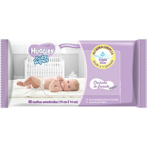 LENCO UMED HUGGIES BABY WIPES 48 UNID LAVANDA