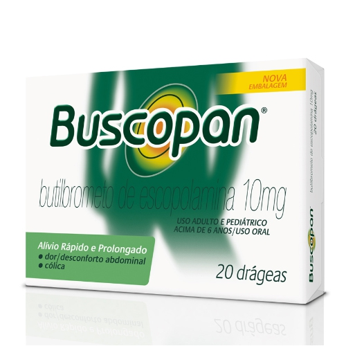 BUSCOPAN 10MG CX 20 DRAGEAS
