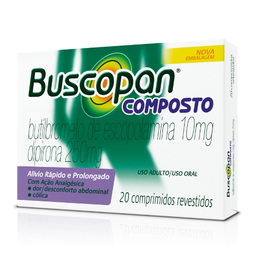 BUSCOPAN COMPOSTO CX 20 DRG