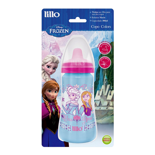COPO LILLO DISNEY COLORS FROZEN 300ML ROSA R 303231