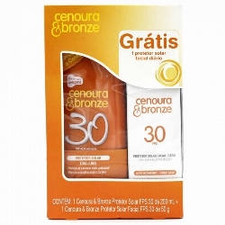 BR CENOURA E BRONZE LOCAO FPS50 200ML GTS FACIAL FPS30 50G