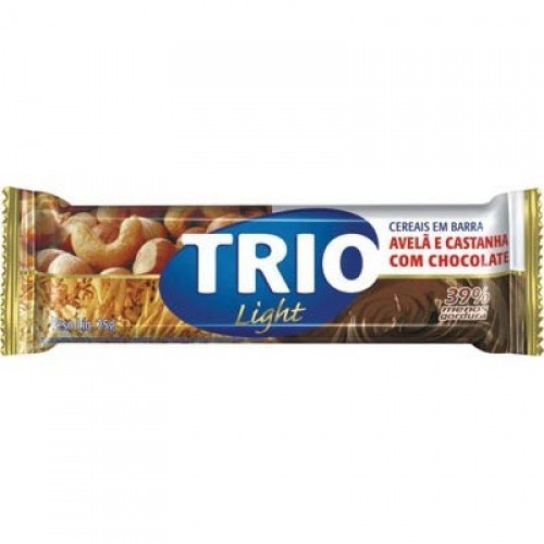 Barra Cereal Trio Light Avela / Castanha 25g Com 1 Unidade